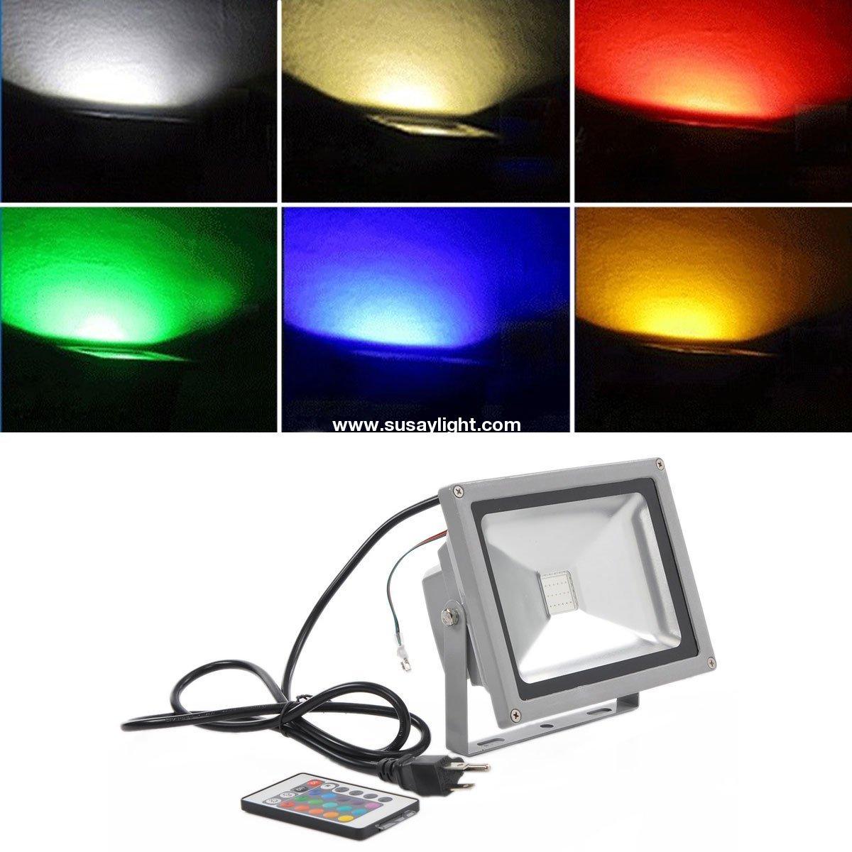 20w rgb color changing led flood light 85 264v outdoor 1600. Black Bedroom Furniture Sets. Home Design Ideas